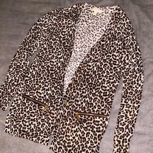 MK Leopard print cardigan
